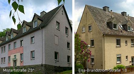 Sanierungsstart für zwei Wohnhäuser am Knerling und am Breitenhagen