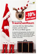 """ABG-Weihnachts-Bonus-Aktion """"TraumZweiRaum"""" spart ab 750 Euro Miete"""